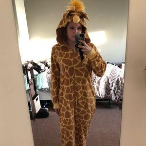 Giraffe footie pajamas